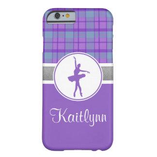 Bailarín púrpura personalizado de la tela escocesa funda barely there iPhone 6