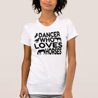 Bailarín que ama caballos remera