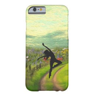 Bailarín que baila cerca del campo de flores funda de iPhone 6 slim