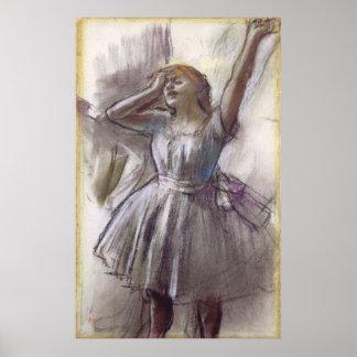 Bailarín que estira por Edgar Degas, ballet del Póster