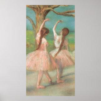 Bailarín rosado de Edgar Degas Póster