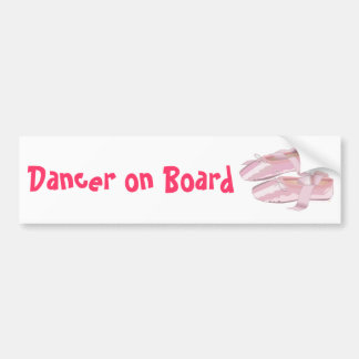 Bailarín rosado de los deslizadores de los zapatos pegatina para auto