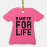 Bailarín rosado para la vida ornamento de navidad