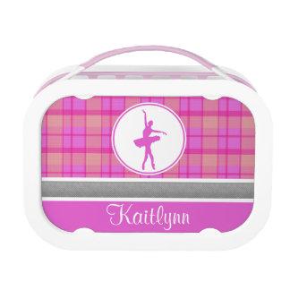 Bailarín rosado personalizado de la tela escocesa