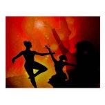 bailarín, sombra postal