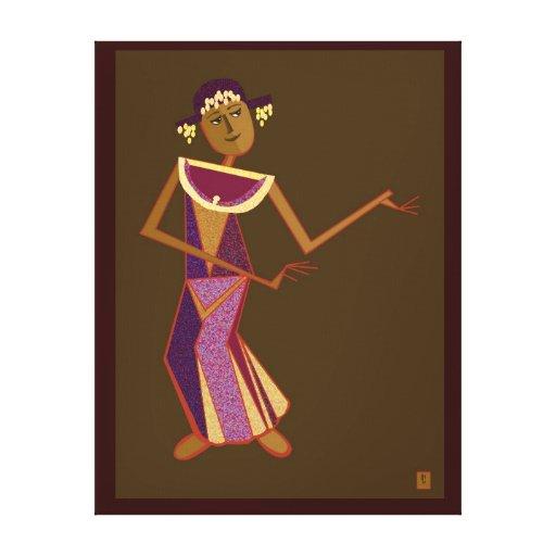 Bailarín tailandés - señora impresión en lona