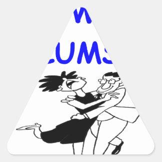 bailarín torpe pegatina triangular