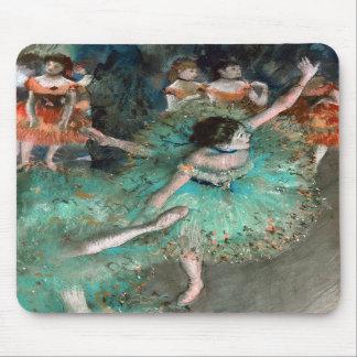 Bailarín verde (bailarina Verte) Edgar Degas Tapete De Raton