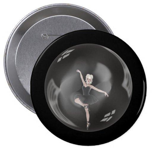 Bailarina 1 de la burbuja pin redondo 10 cm