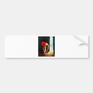 Bailarina 2 etiqueta de parachoque