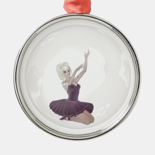 bailarina 2 de la burbuja 3D Ornamentos De Navidad
