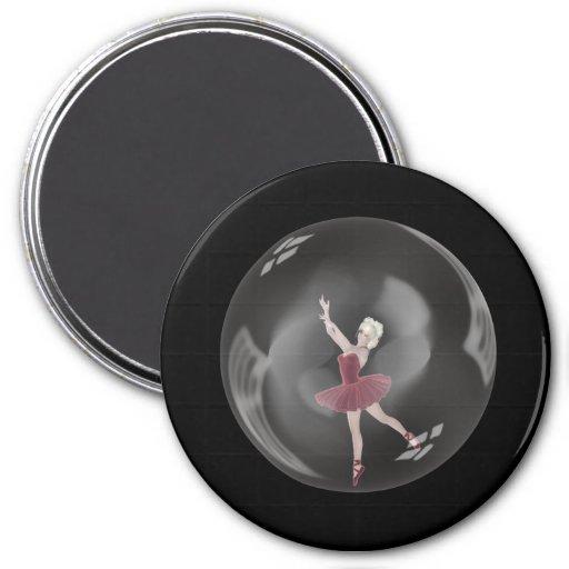 bailarina 3 de la burbuja 3D Iman