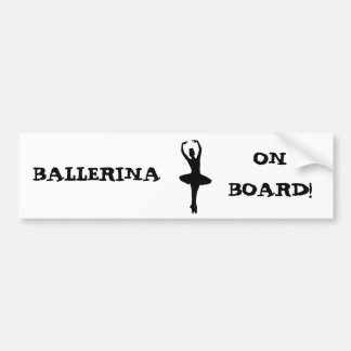 BAILARINA A BORDO: ~ del EN POINTE (ballet) de la Pegatina Para Auto