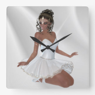 Bailarina afroamericana magnífica reloj cuadrado