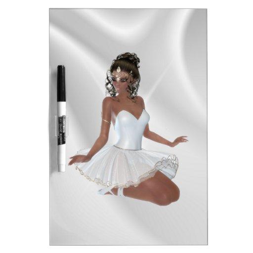Bailarina afroamericana magnífica tableros blancos