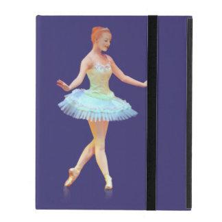 Bailarina agraciada con el pelo rojo
