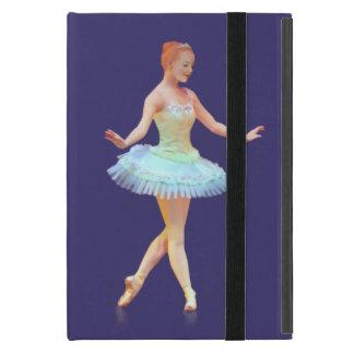 Bailarina agraciada con el pelo rojo iPad mini cárcasa