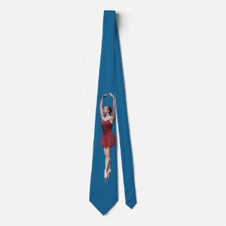 Bailarina agraciada en el personalizable de Pointe Corbata Personalizada