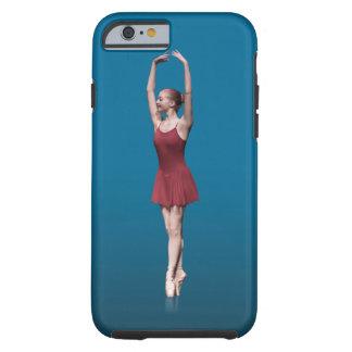 Bailarina agraciada en Pointe Funda De iPhone 6 Tough