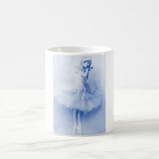 Bailarina Ana Pavlova, azul, vintage, foto Taza