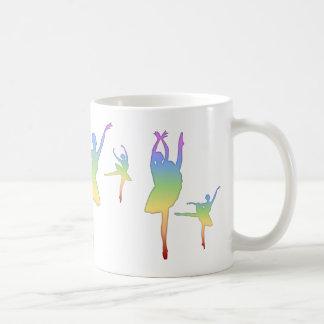 Bailarina - arco iris 3 taza de café