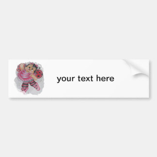 bailarina bee bumper sticker