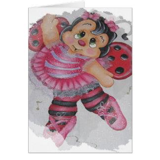 bailarina bee card