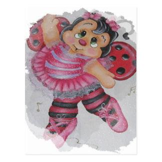 bailarina bee postcard