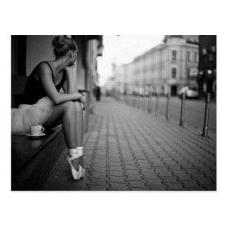 Bailarina blanco y negro tarjetas postales