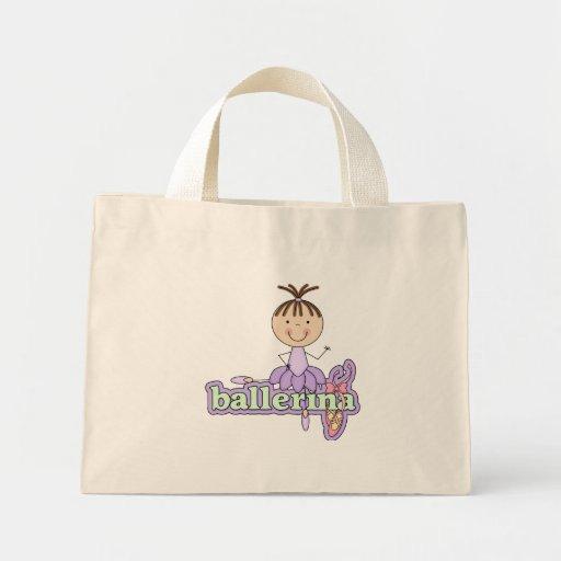 Bailarina - camisetas y regalos de la lila bolsas de mano