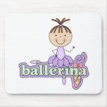 Bailarina - camisetas y regalos de la lila alfombrillas de raton