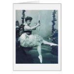 Bailarina con el arco del Cupid Tarjeta