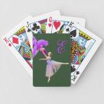 Bailarina con la orquídea y el monograma barajas