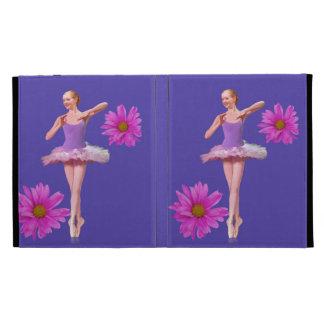 Bailarina con las margaritas rosadas