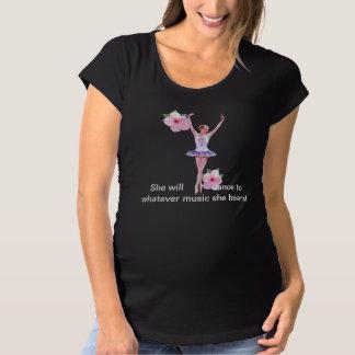 Bailarina con personalizable rosado del hibisco camisas