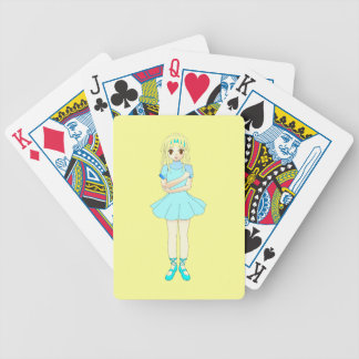 bailarina dan del traje del ballet del bailarín da baraja de cartas