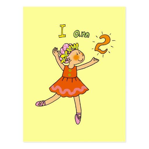 bailarina de 2 años postal