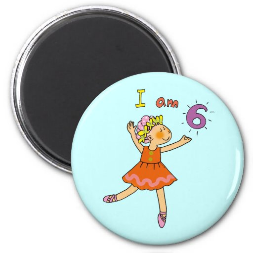 bailarina de 6 años imán redondo 5 cm