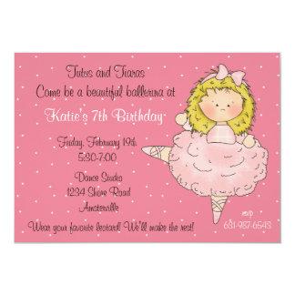 Bailarina de Blondie Invitacion Personal