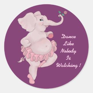Bailarina de Elephantina Pegatina Redonda
