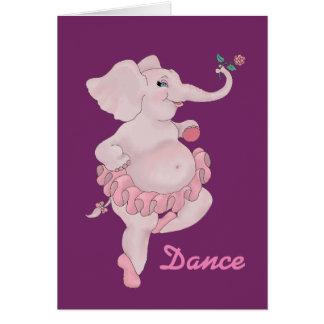 Bailarina de Elephantina Tarjeta De Felicitación