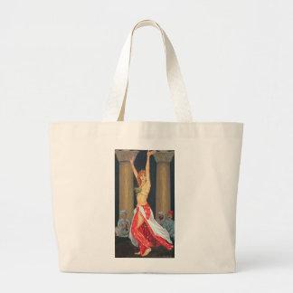 Bailarina de la danza del vientre 1993 bolsa tela grande