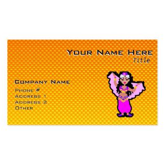 Bailarina de la danza del vientre amarillo-naranja tarjetas de visita
