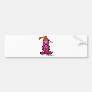 Bailarina de la danza del vientre (con los etiqueta de parachoque
