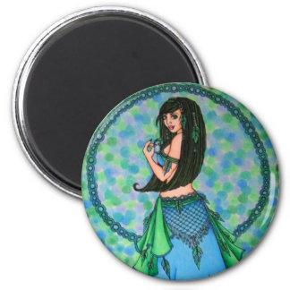 Bailarina de la danza del vientre de encaje imán de nevera