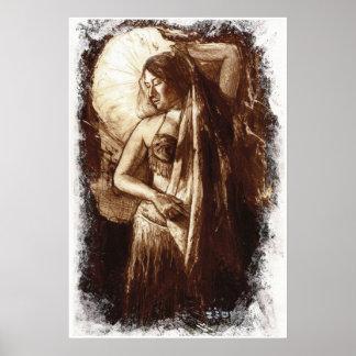 Bailarina de la danza del vientre de sexo femenino póster