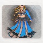 Bailarina de la danza del vientre del libra alfombrilla de ratón