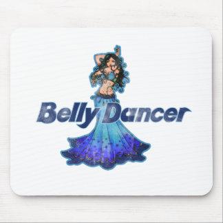 Bailarina de la danza del vientre del vintage de P Tapetes De Ratón