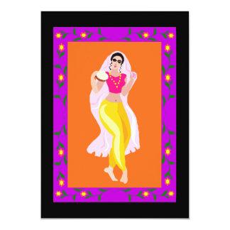 """Bailarina de la danza del vientre invitación 5"""" x 7"""""""