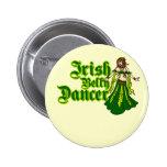 Bailarina de la danza del vientre irlandesa pin